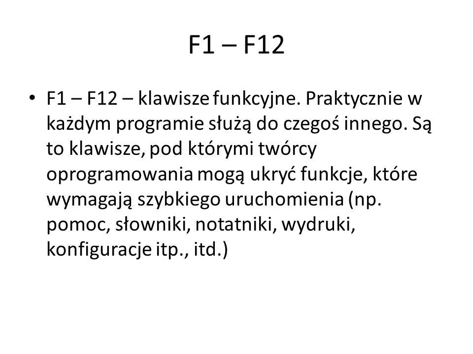 F1 – F12