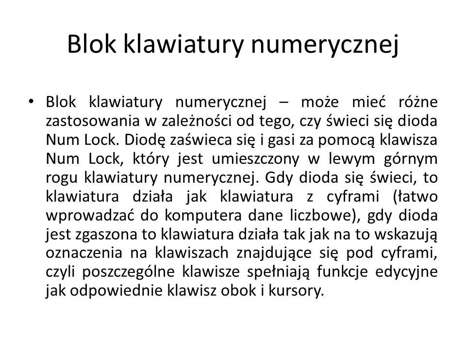 Blok klawiatury numerycznej