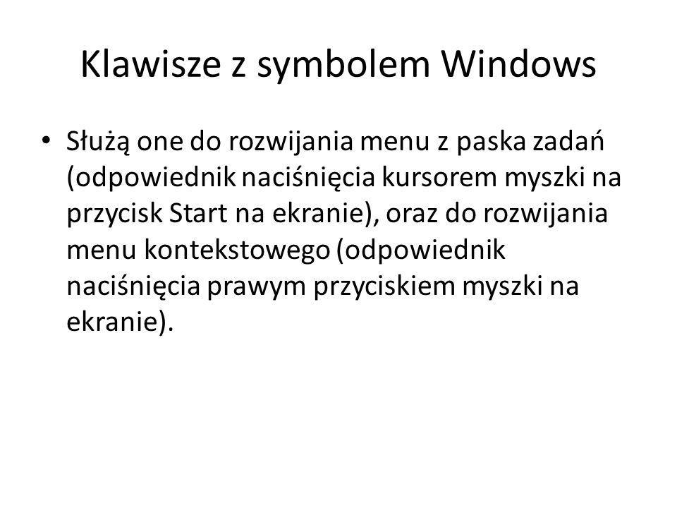 Klawisze z symbolem Windows