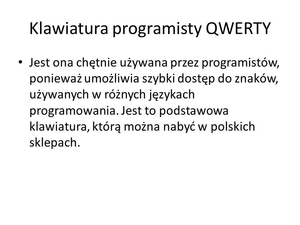 Klawiatura programisty QWERTY