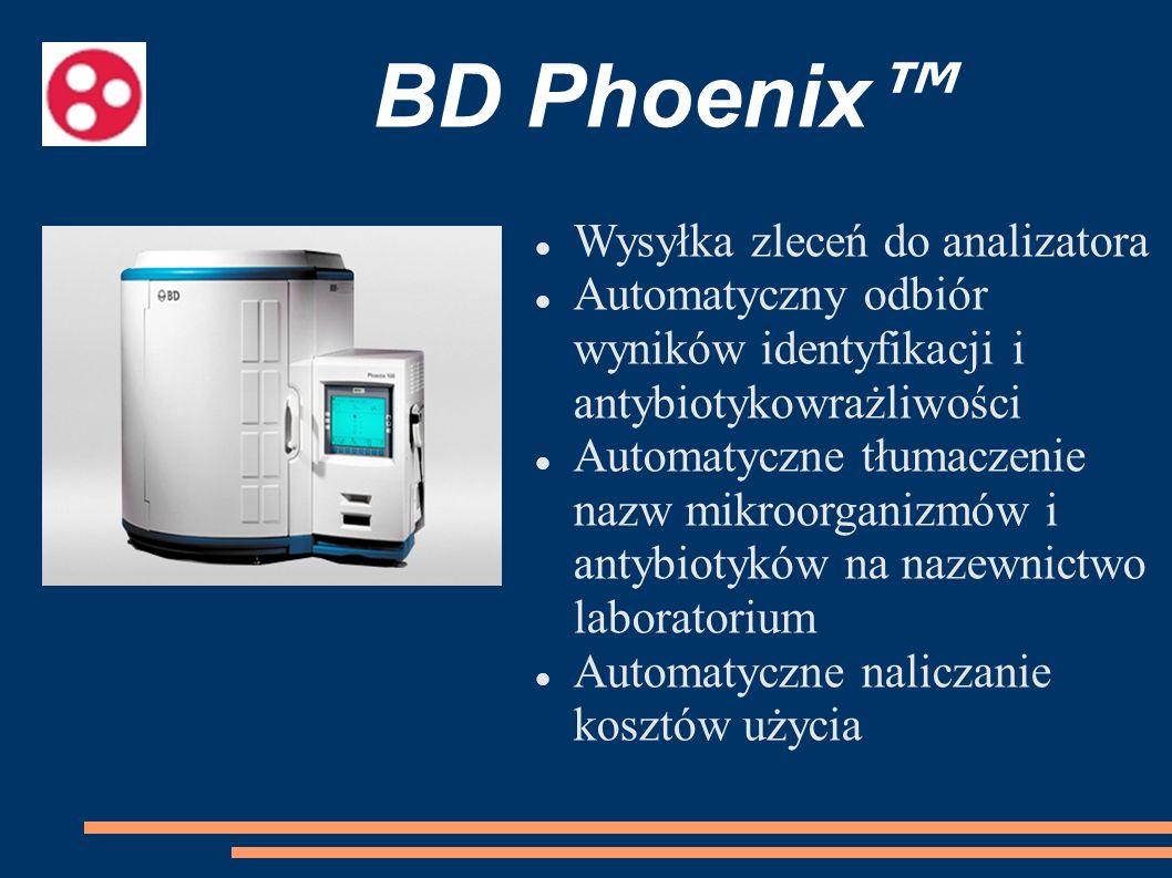 BD Phoenix™ Wysyłka zleceń do analizatora