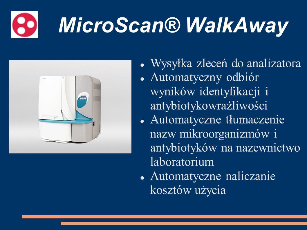 MicroScan® WalkAway Wysyłka zleceń do analizatora