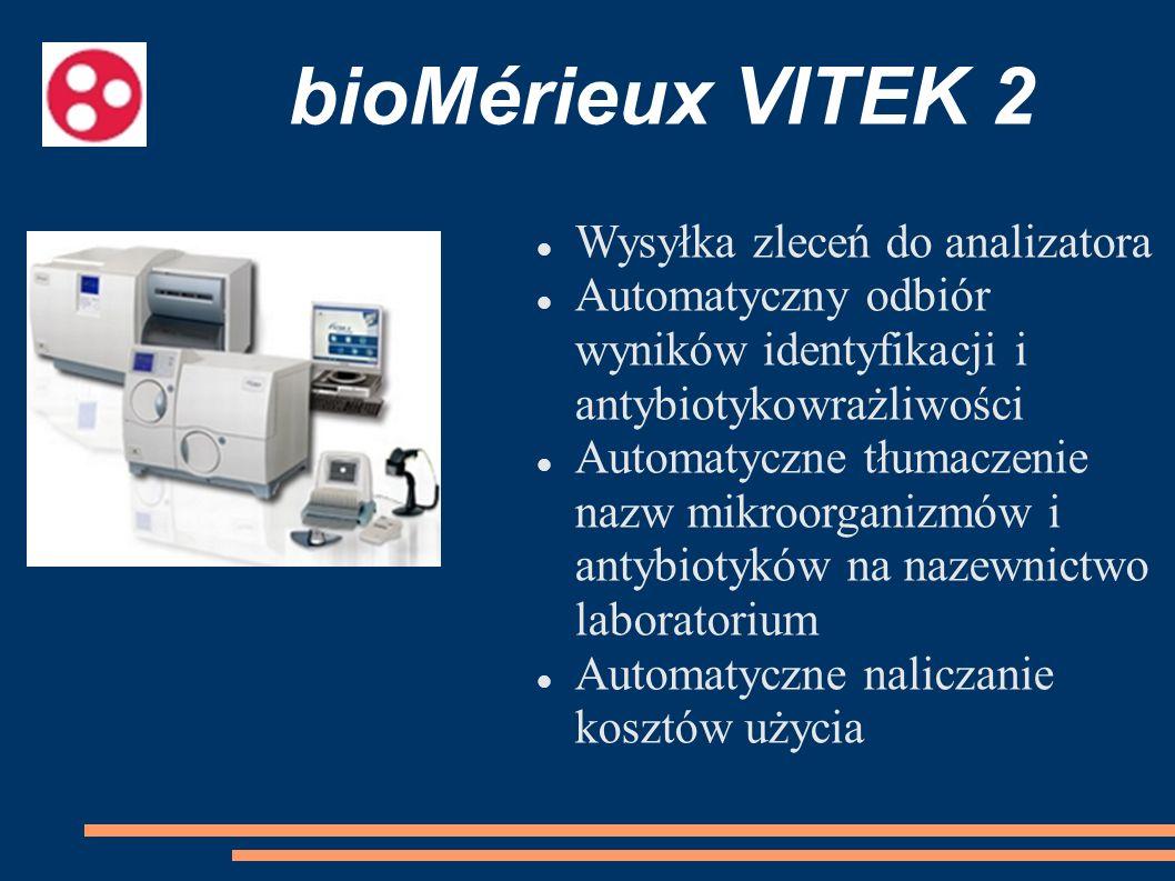 bioMérieux VITEK 2 Wysyłka zleceń do analizatora