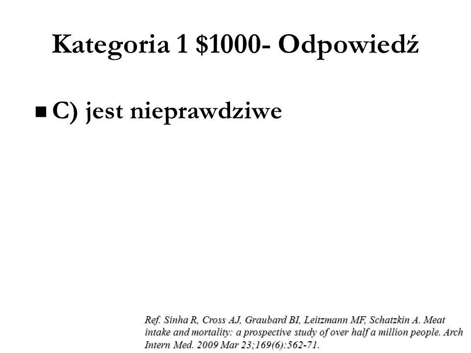 Kategoria 1 $1000- Odpowiedź