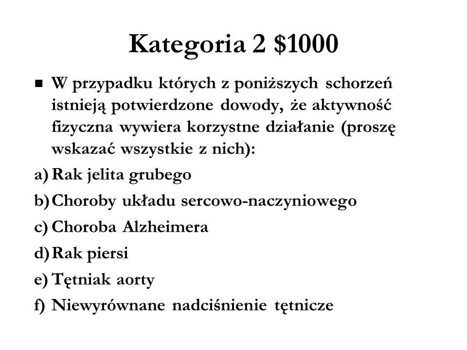 Kategoria 2 $1000