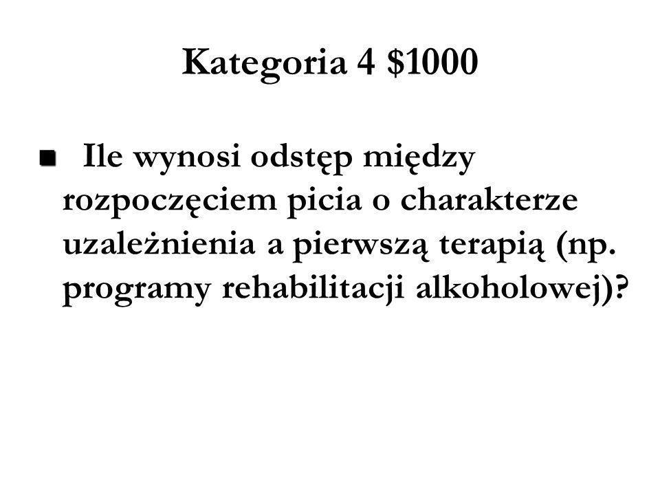Kategoria 4 $1000