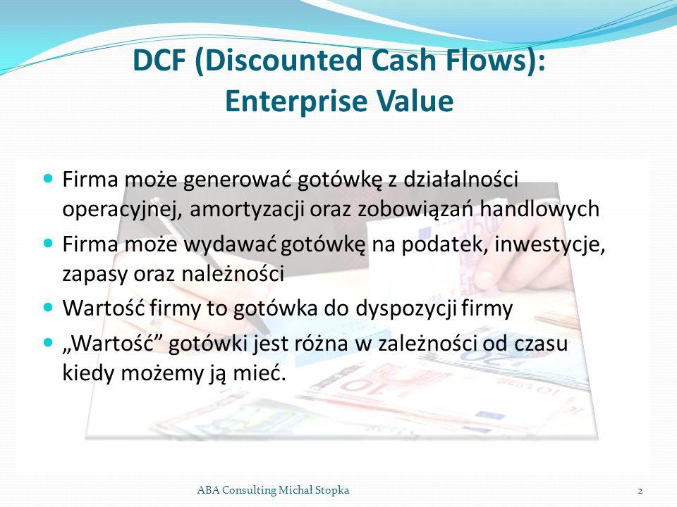 DCF (Discounted Cash Flows): Enterprise Value