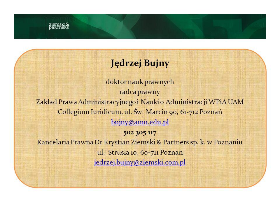 Jędrzej Bujny doktor nauk prawnych radca prawny