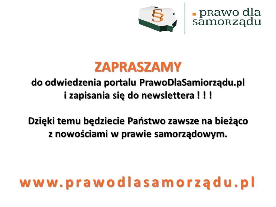ZAPRASZAMY www.prawodlasamorządu.pl