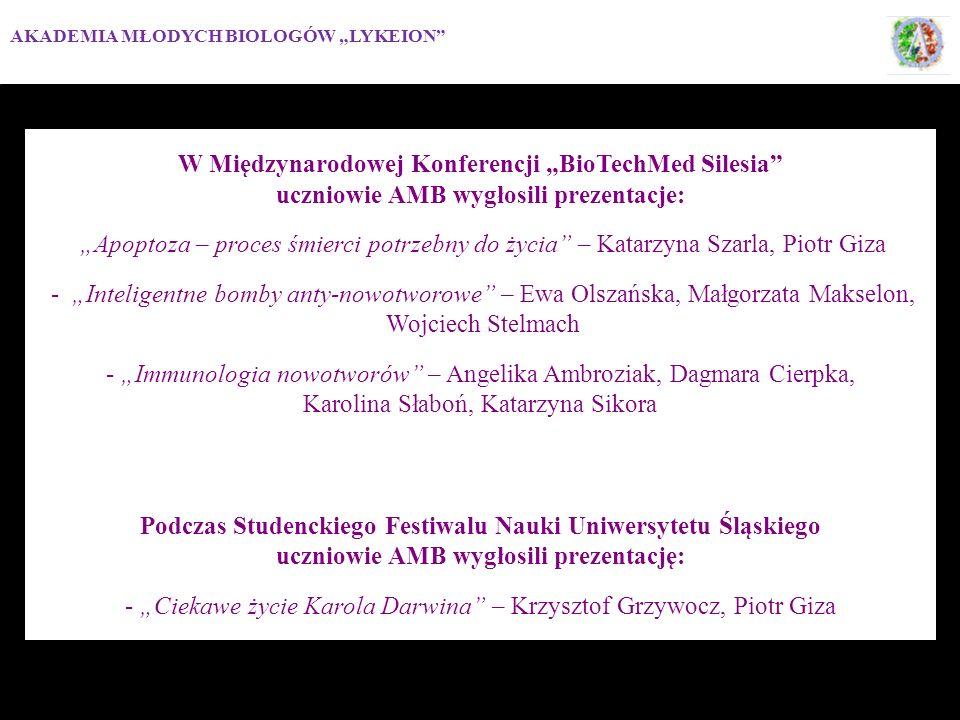 """W Międzynarodowej Konferencji """"BioTechMed Silesia"""