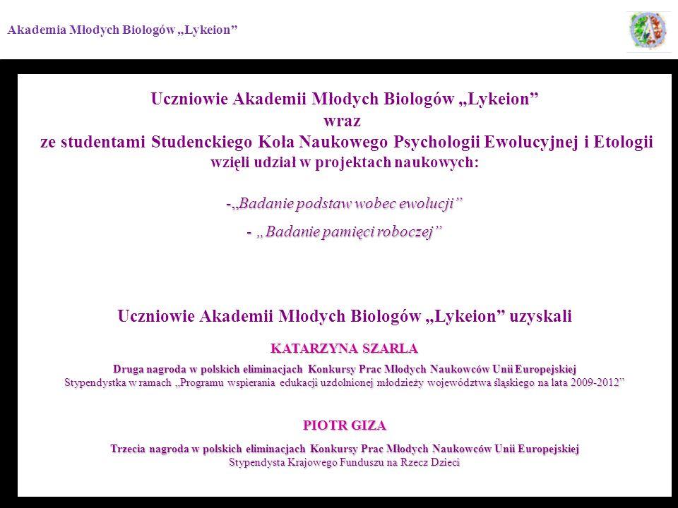"""Uczniowie Akademii Młodych Biologów """"Lykeion wraz"""