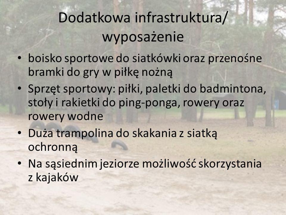 Dodatkowa infrastruktura/ wyposażenie