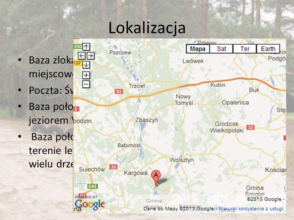 Lokalizacja Baza zlokalizowana w miejscowości Wilcze Poczta: Świętno