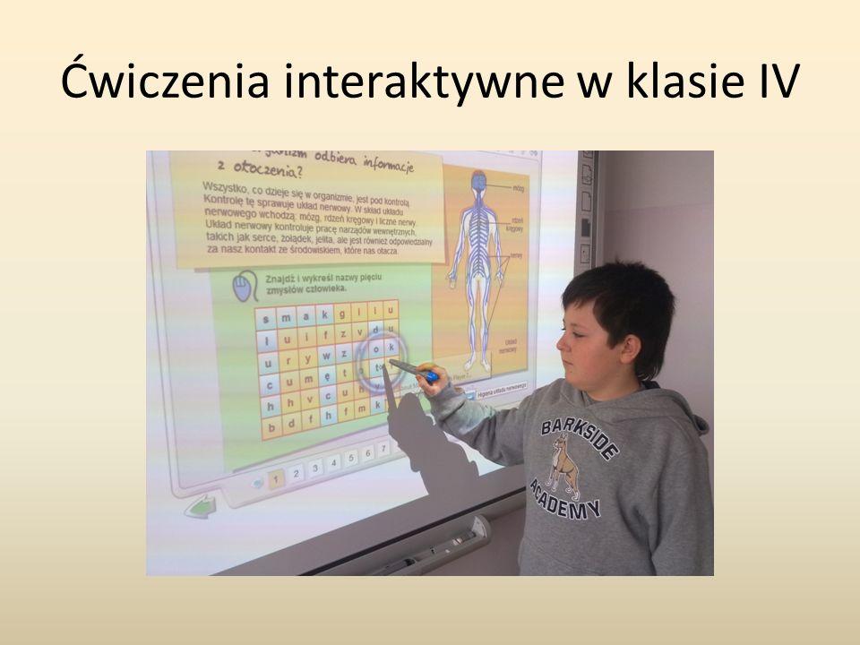 Ćwiczenia interaktywne w klasie IV