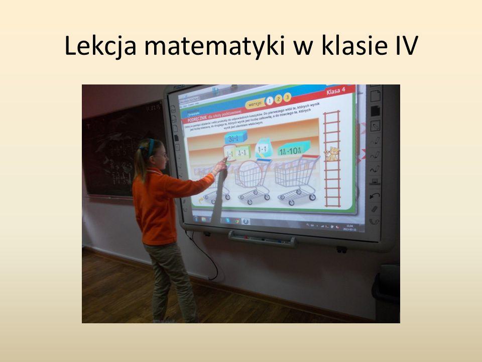 Lekcja matematyki w klasie IV