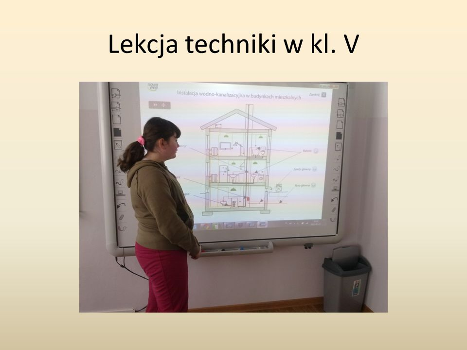 Lekcja techniki w kl. V
