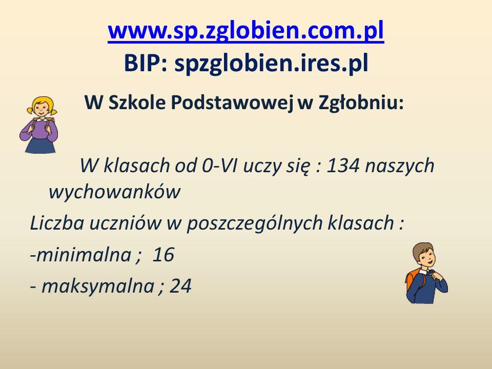 www.sp.zglobien.com.pl BIP: spzglobien.ires.pl