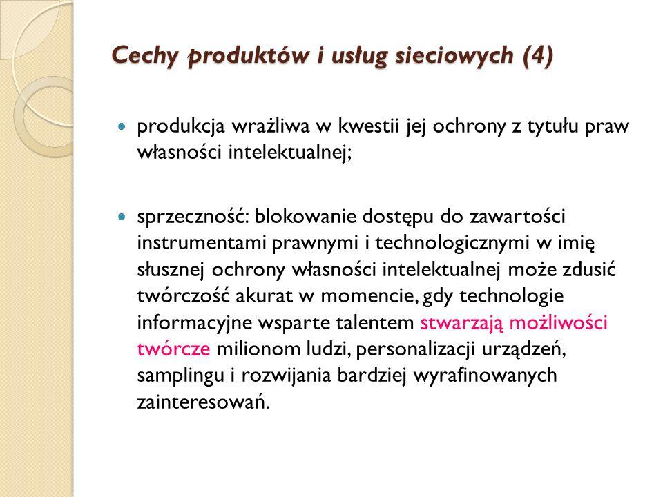Cechy produktów i usług sieciowych (4)