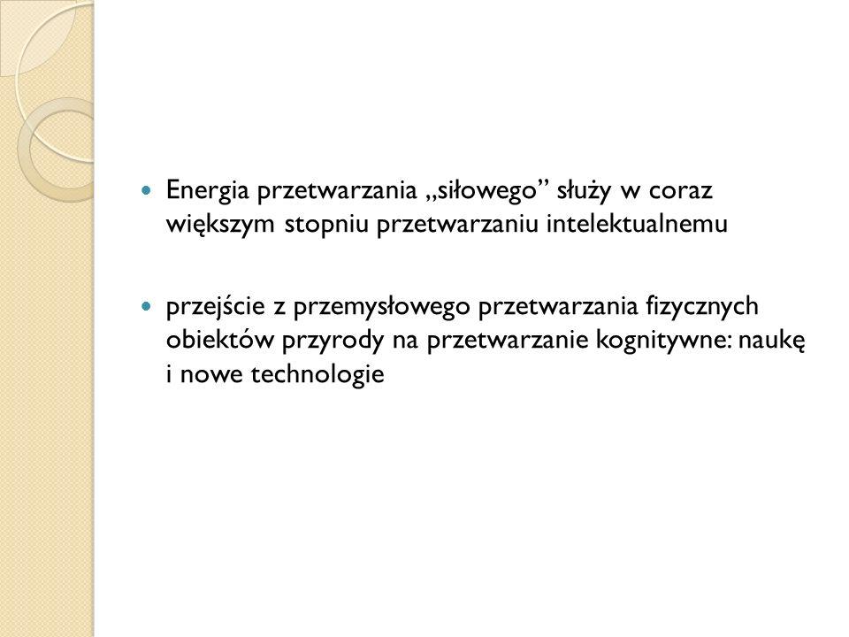"""Energia przetwarzania """"siłowego służy w coraz większym stopniu przetwarzaniu intelektualnemu"""