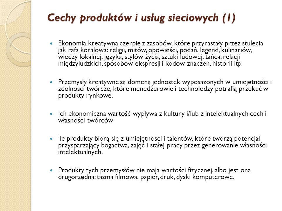 Cechy produktów i usług sieciowych (1)