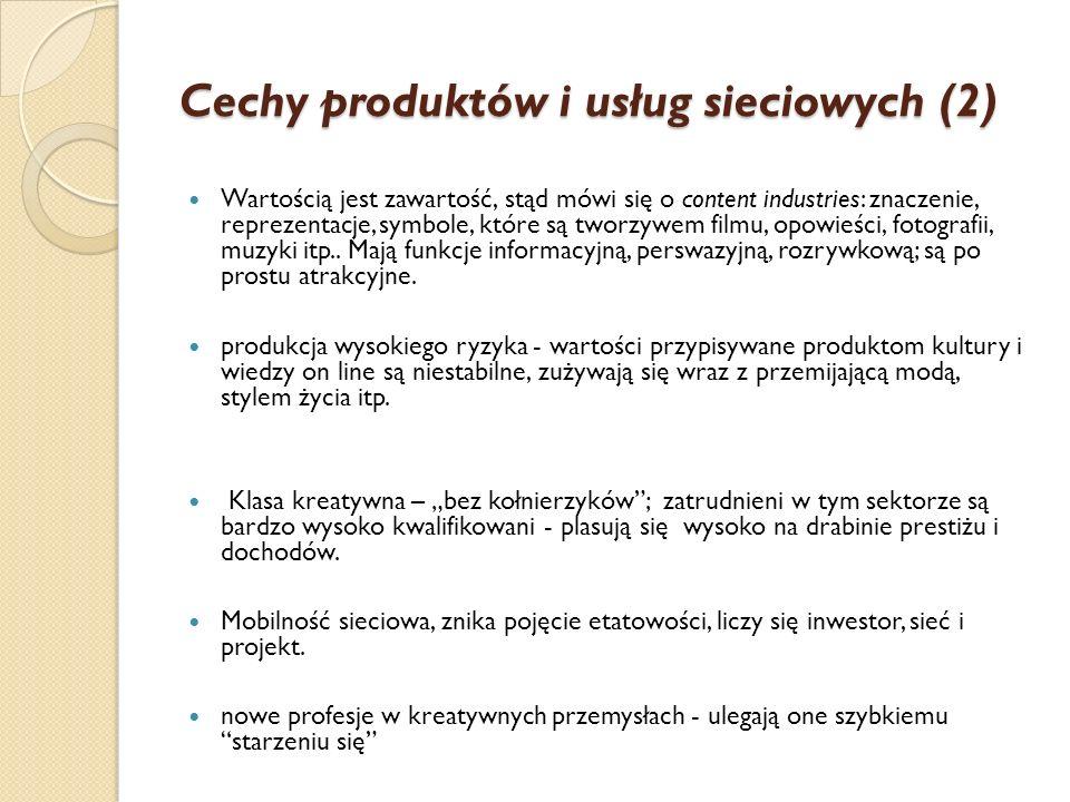 Cechy produktów i usług sieciowych (2)