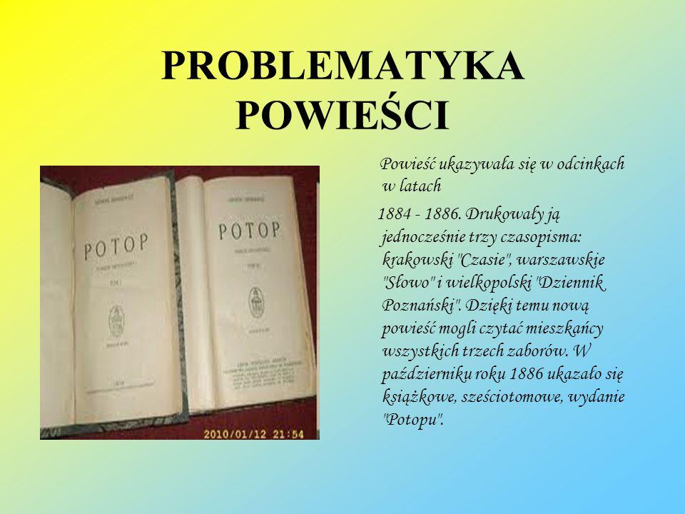 PROBLEMATYKA POWIEŚCI