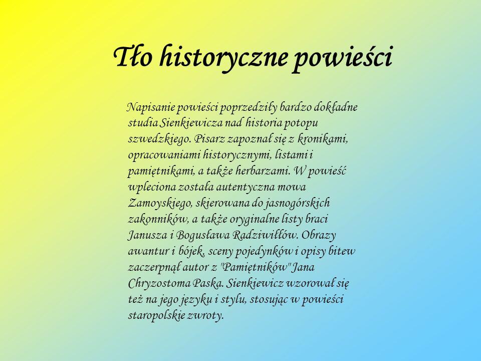 Tło historyczne powieści