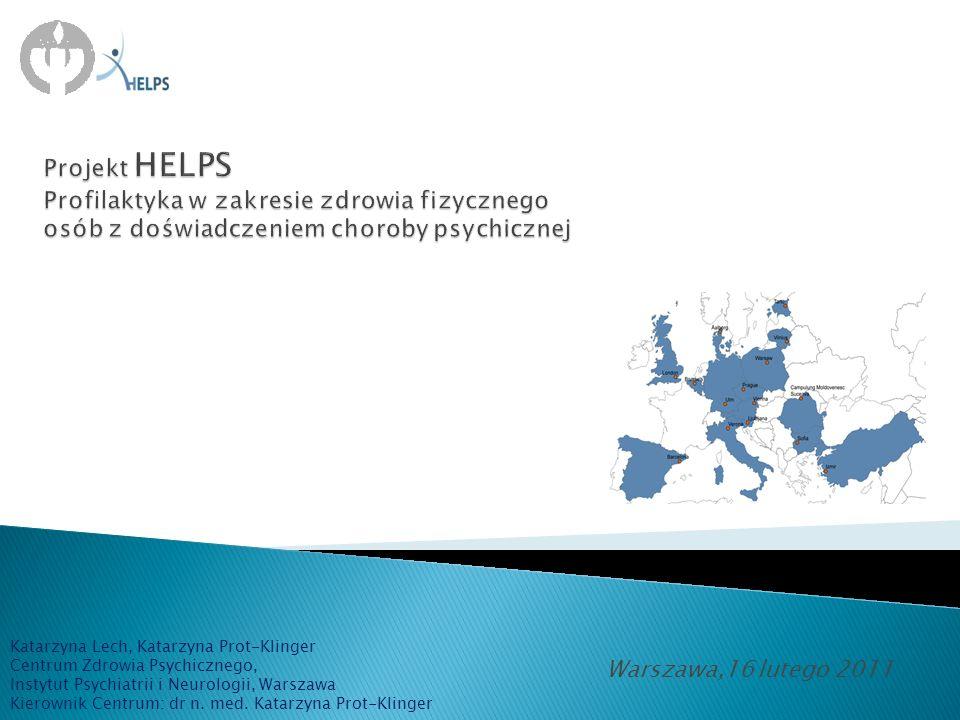 Projekt HELPS Profilaktyka w zakresie zdrowia fizycznego osób z doświadczeniem choroby psychicznej