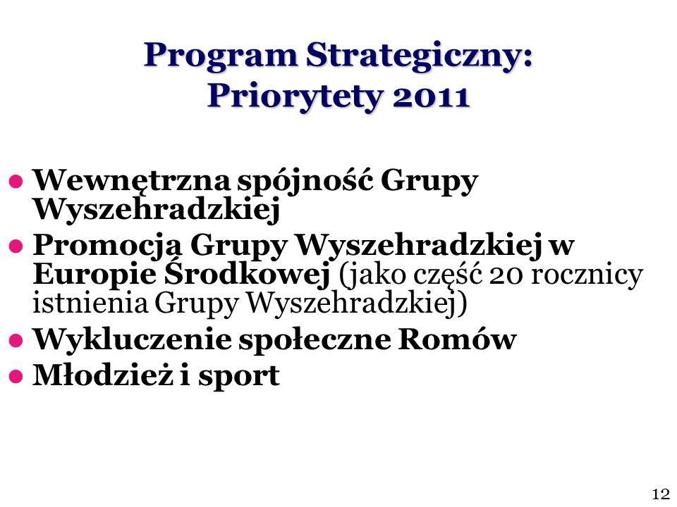 Program Strategiczny: Priorytety 2011