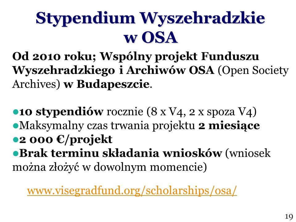 Stypendium Wyszehradzkie w OSA