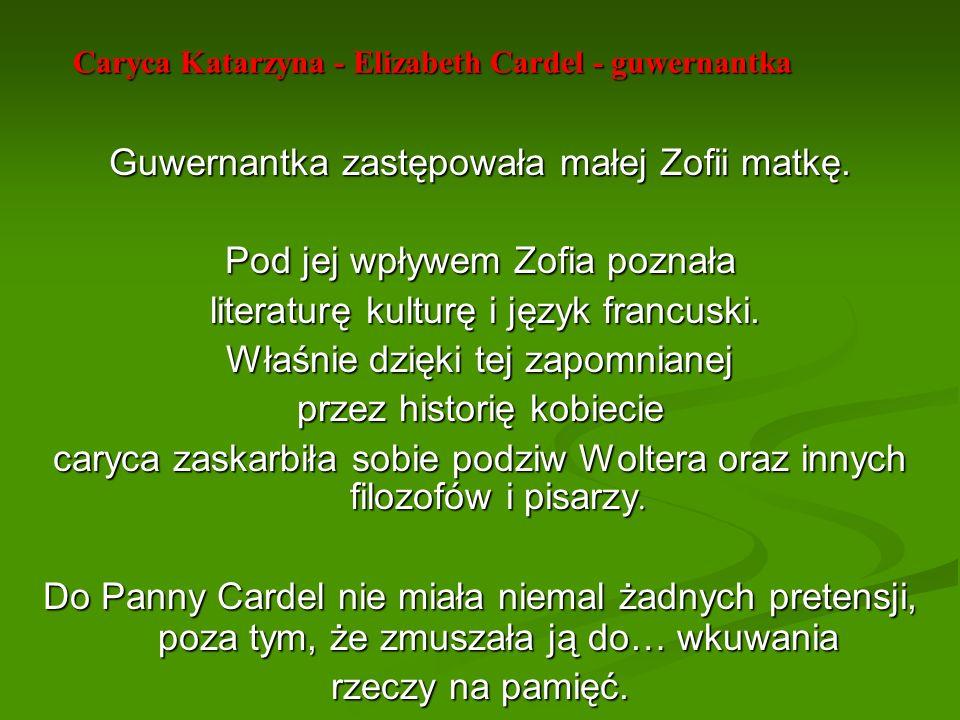 Caryca Katarzyna - Elizabeth Cardel - guwernantka