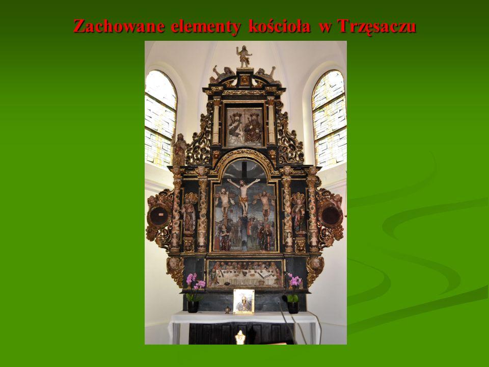 Zachowane elementy kościoła w Trzęsaczu