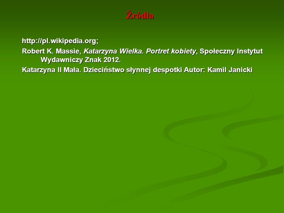 Źródła http://pl.wikipedia.org;