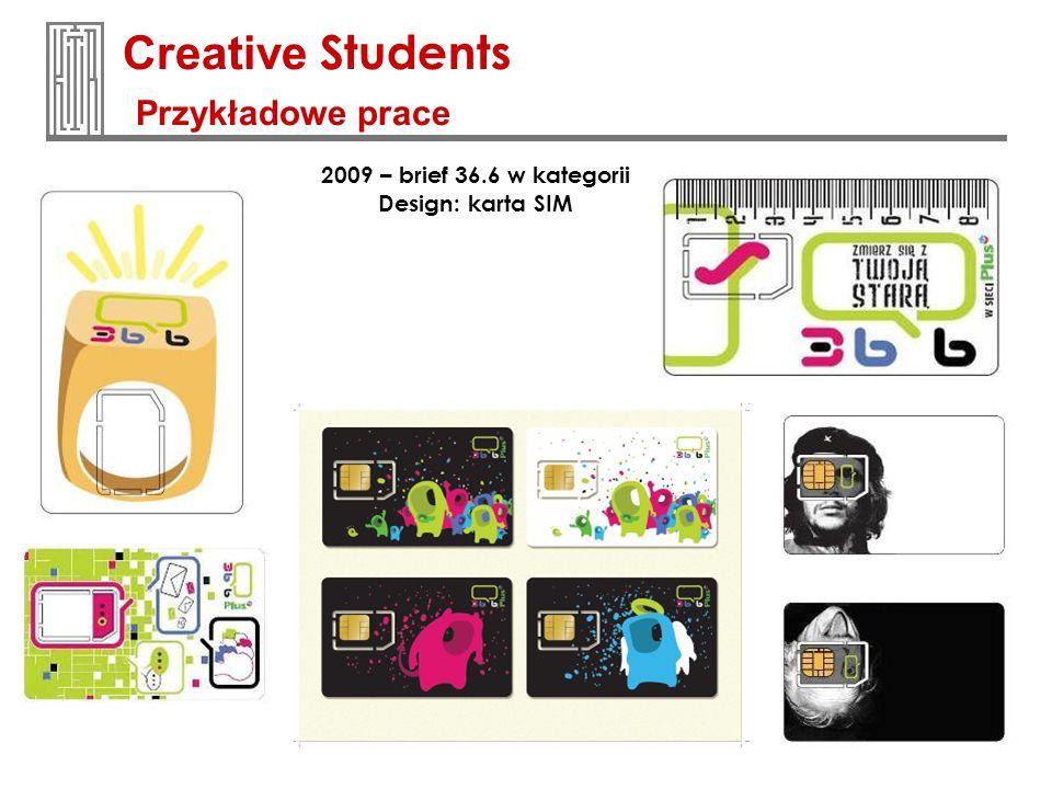 2009 – brief 36.6 w kategorii Design: karta SIM