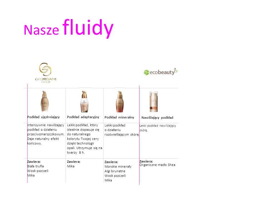 Nasze fluidy Nawilżający podkład Podkład ujędrniający