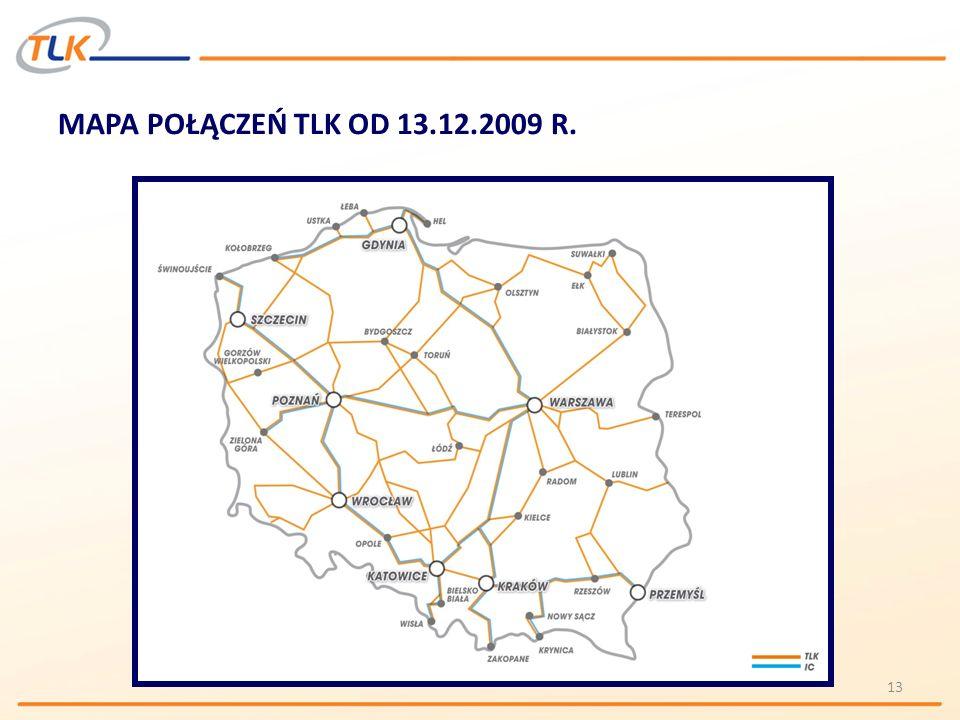 MAPA POŁĄCZEŃ TLK OD 13.12.2009 R.