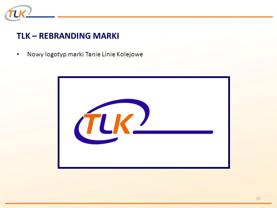 TLK – REBRANDING MARKI Nowy logotyp marki Tanie Linie Kolejowe