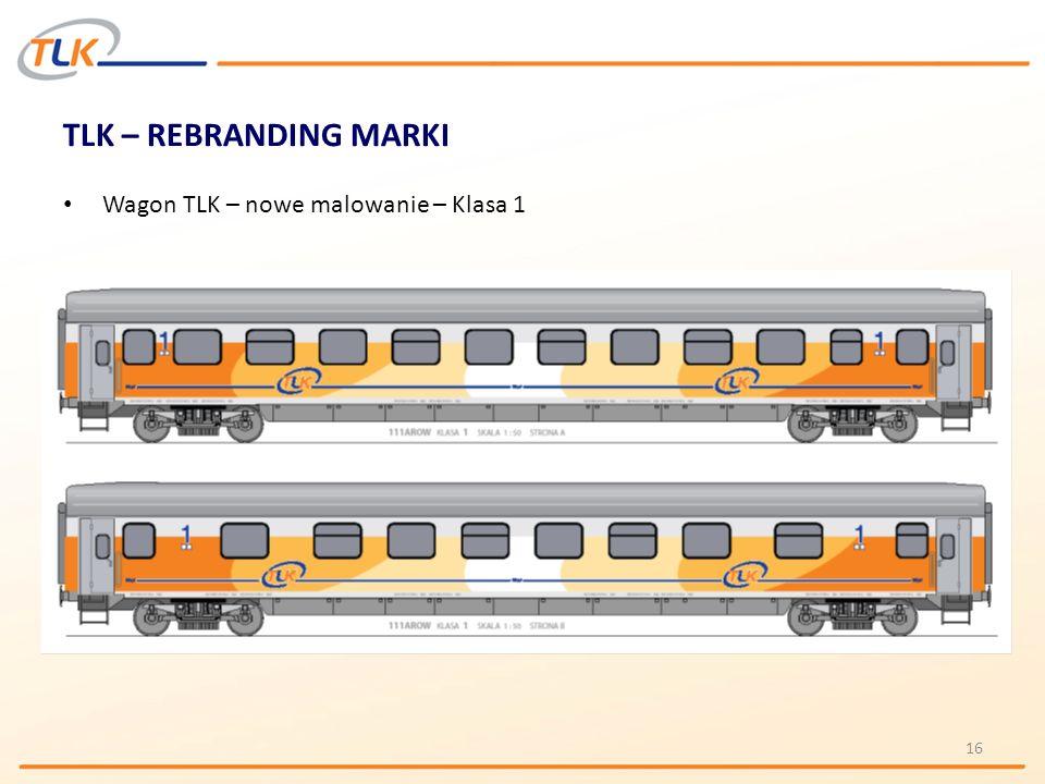 TLK – REBRANDING MARKI Wagon TLK – nowe malowanie – Klasa 1