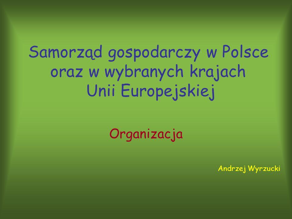 Samorząd gospodarczy w Polsce oraz w wybranych krajach Unii Europejskiej