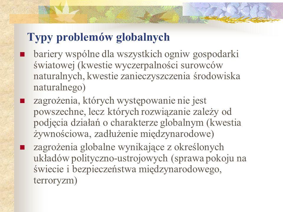 Typy problemów globalnych