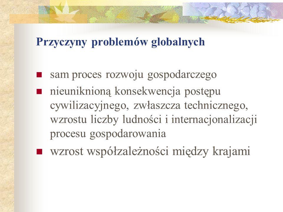 Przyczyny problemów globalnych