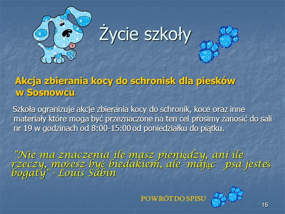 Życie szkoły w Sosnowcu.