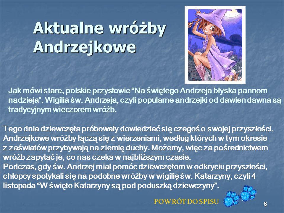 Aktualne wróżby Andrzejkowe