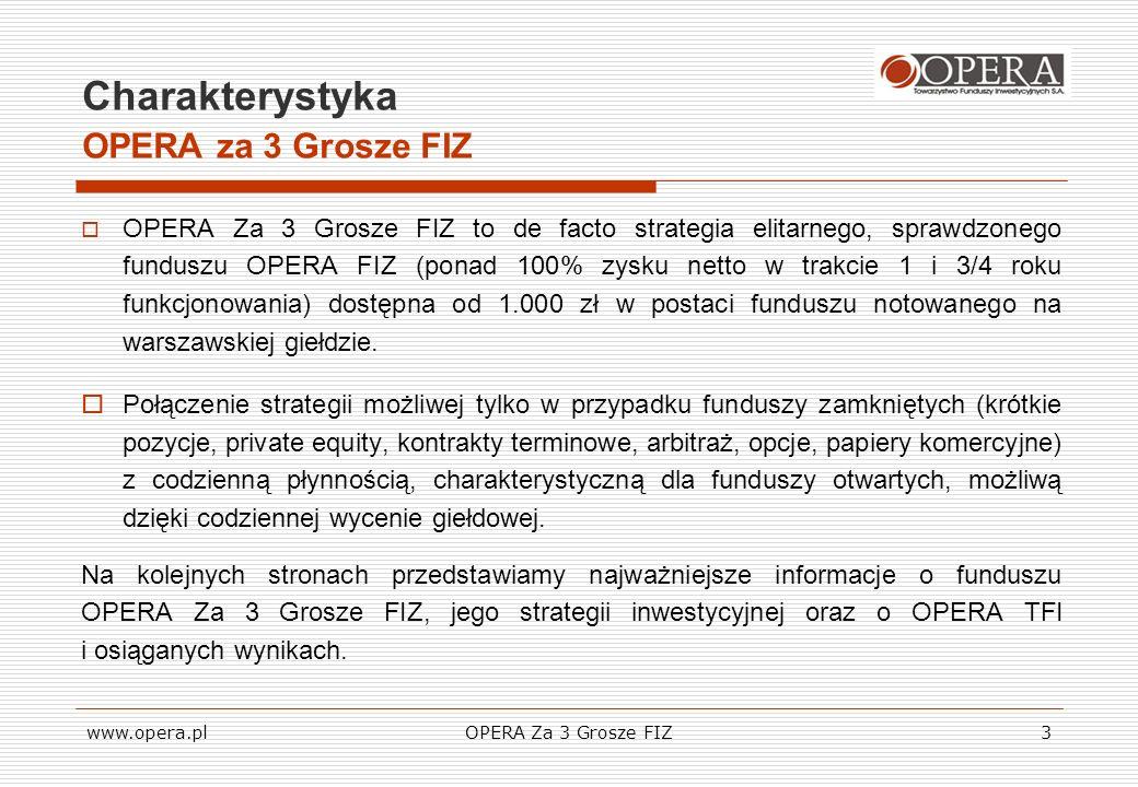 Charakterystyka OPERA za 3 Grosze FIZ