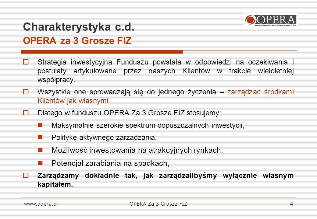 Charakterystyka c.d. OPERA za 3 Grosze FIZ