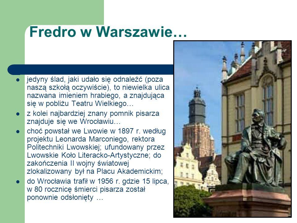Fredro w Warszawie…
