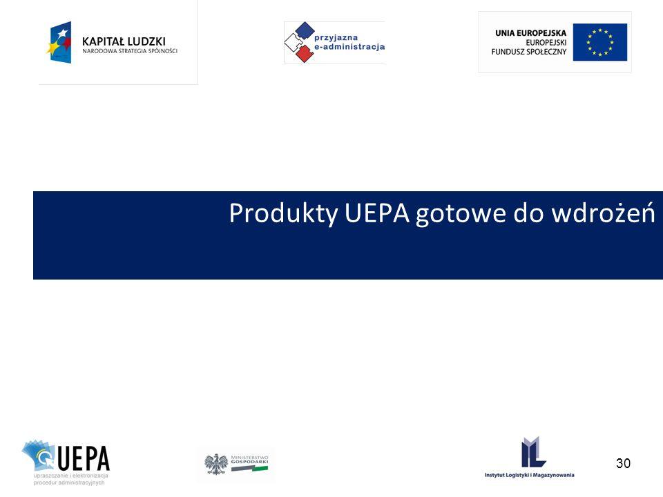 Produkty UEPA gotowe do wdrożeń