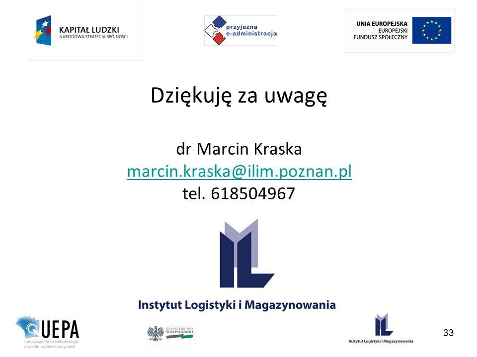 Dziękuję za uwagę dr Marcin Kraska marcin. kraska@ilim. poznan. pl tel