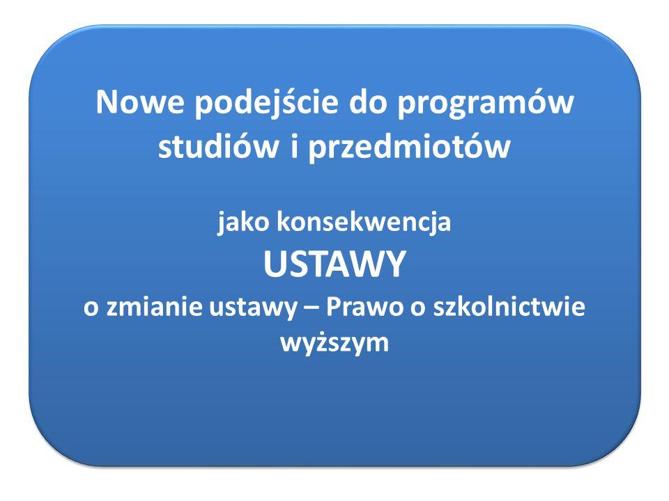 Nowe podejście do programów studiów i przedmiotów