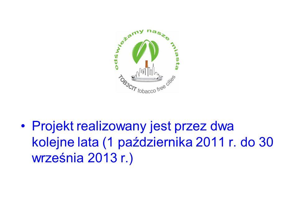 Projekt realizowany jest przez dwa kolejne lata (1 października 2011 r